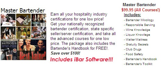Master Bartender Interactive Course Package