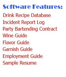 Bartending Software Features: Drink Recipe Database