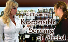 Alcohol Server Certificate, alcohol sales and service - server / seller training certificate  / Off-Premises Responsible Serving®