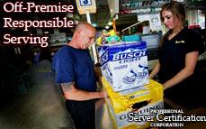 Off-Premises Responsible Serving | Bartender License / Server Permit