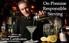On-Premises Responsible Serving | Bartender License / Server Permit